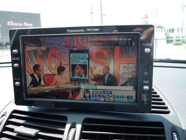フルセグTV付!!ドライブ中にお好きなTVを視聴できる優れもの!!