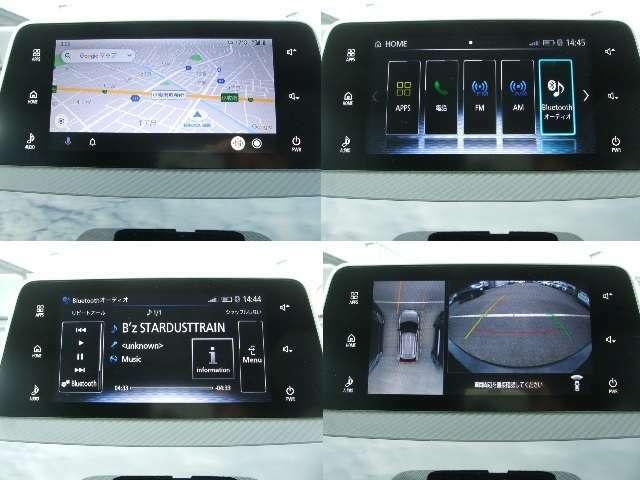メーカーオプションのスマートフォン連携ディスプレイオーディオを搭載。ナビはスマホの地図アプリを使用します。全方向のマルチアラウンドモニター付。