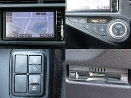 28年式 アクア 1.5L 走行7.8万K 純正SDナビ・ワンセグ ブルートゥース アイドリングストップ ウィンカーミラー サイドバイザー ETC キーレス