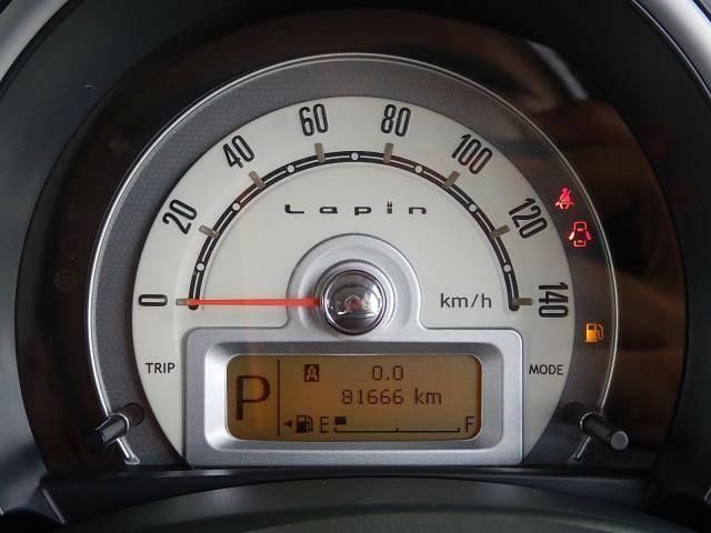【メーターパネル部】現在の走行距離は約81,670kmです。まだまだ元気な車ですよ♪