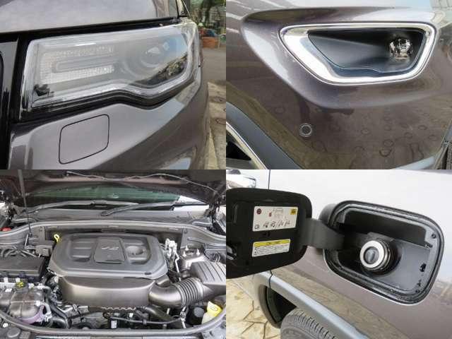 HIDヘッドランプ LEDデイランプ、フォグランプ 3,600ccアイドリングストップ付き高性能エンジン キャップレスフューエル