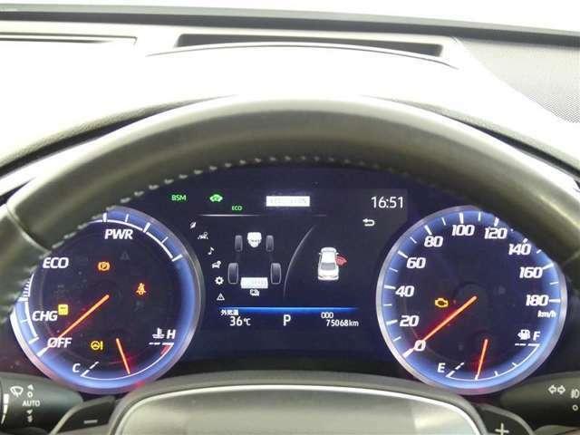 視認性の良いスピードメーターですね。夜も見やすく表示されますので運転が楽しくなります。
