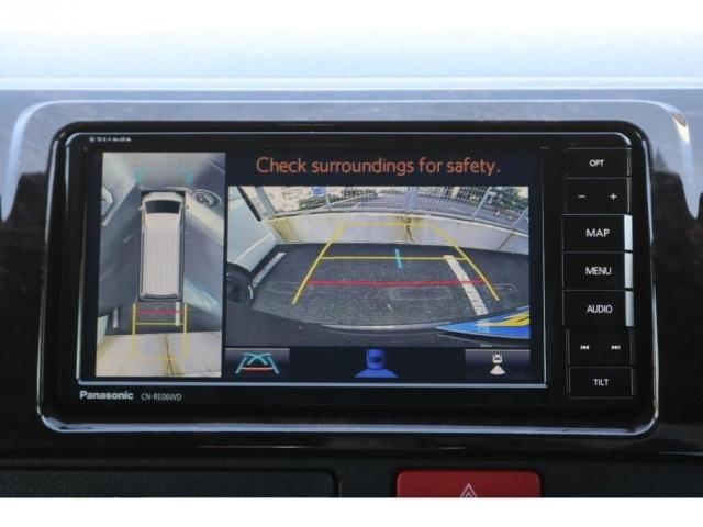 メーカオプションパノラミックビューモニター!バックでの駐車時も安心です。