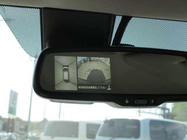 全周囲カメラが付いて駐車も安心ですね。