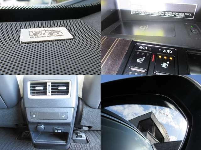 上級オプションのマークレビンソンサウンドやブラインドスポットモニター、後部座席シートヒーターなど装備充実です。
