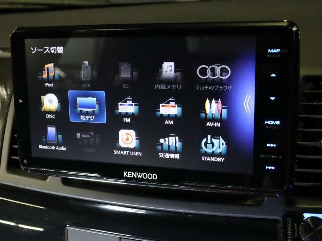 大画面ケンウッドナビ!フルセグTV・Bluetooth付でロングドライブも飽きません!Bカメラ付きで駐車も安心!