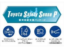 【トヨタセーフティセンスP】車線逸脱を知らせる、夜を見やすくするオートハイビーム、衝突回避支援プリクラッシュセーフティシステム 全車速追従機能付クルーズコントロール