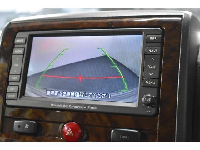 ナビに連動のバックモニターを装備☆バックはもちろん、フロント・左サイドも映して視界は良好■車庫入れをしっかりサポートします☆