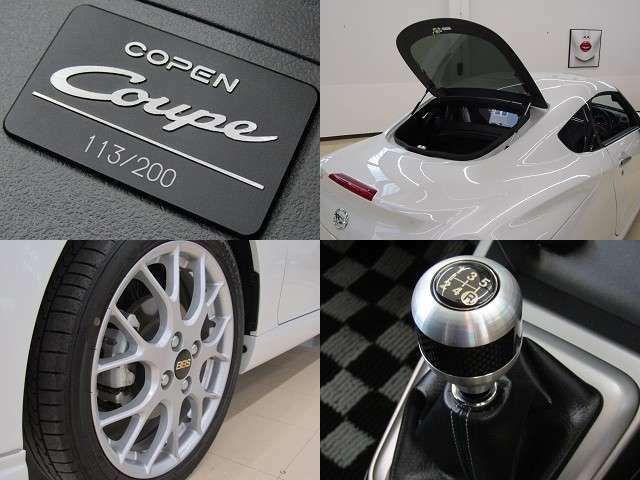 R1年式 コペン クーペ 走行0.2万K 200台限定車 BBS鍛造16AW MOMO製革巻きステアリング フロントスーパーLSD 純正ナビ・フルセグTV 音楽サーバー ブルートゥース バックカメラ 5速MT