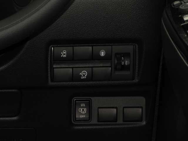 助手席側オートスライドドアを搭載!運転席にあるスイッチにて開閉の操作をして頂くことができます。