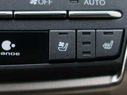 ●全席シートヒーター(オプション装備):高級感あふれるレザーシートに、前席・後席にシートヒーターを搭載しております。前席にはシートクーラーも装備しております。