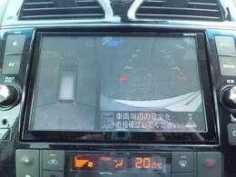 車の全周囲を確認できるアラウンドビューモニター