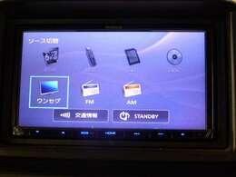 社外メモリーナビ装備です!ワンセグ、CDなど、機能が充実しております!