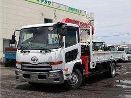 UDトラックス コンドル 4t 4段クレーン付き 平ボディ 古川ユニック 標準セミロング 6MT