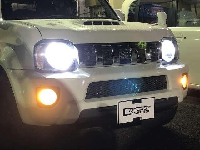 ヘッドライトはIPF製LED、フォグにはイエローのバルブを装着☆彡悪天候でも視界良好♪