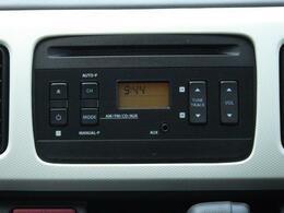 操作ラクラクなAM/FMラジオ付CDプレーヤー。