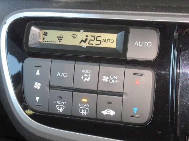 エアコンはプラズマクラスター技術を搭載したオートエアコンを装備。空気浄化や脱臭などの効果を発揮します。設定した温度に自動で室温を調整してくれるのでオールシーズン快適にドライブできます!