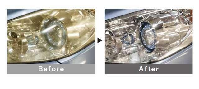 Bプラン画像:ポリカーボネートの弱点である、劣化と白濁を復元するとともに、紫外線の影響を受けにくい強力なシロキサン結合を持ったガラス被膜コーティングにより、長期間ポリカーボネート表面を保護します。