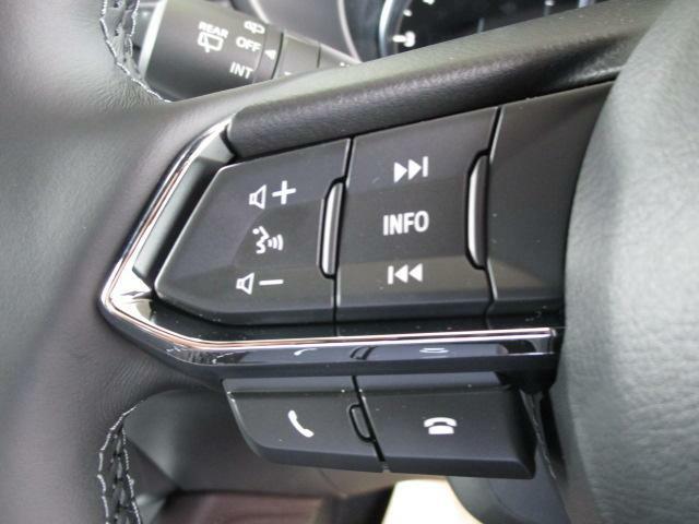 ステアリングオーディオスイッチで簡単なオーディオ操作が可能です!