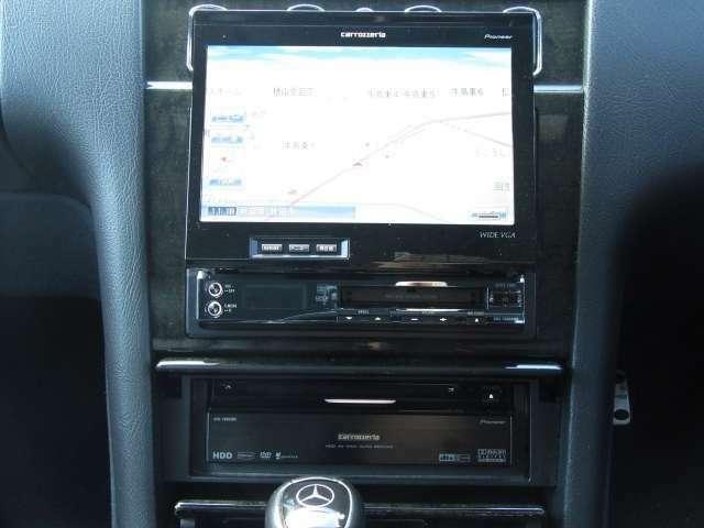 カロッツェリア AVIC-VH009MD HDDナビ搭載!DVD/CD/MD/ミュージックサーバー/ラジオ使えます!ケンウッド KSC-SW1サブウーハーも搭載♪