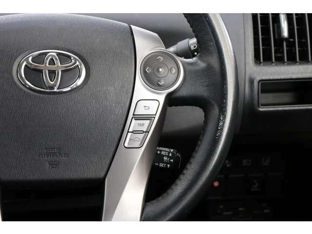 メーカーオプションのレーダークルーズコントロール付きです。 車間距離を自動で保つために速度を自動で調整してくれます。便利ですね。安心ですね。