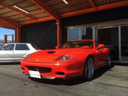 フェラーリ 575Mマラネロ F1 正規D車F1本革S19AW左H禁煙車