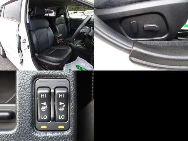 フロントシート ブラックレザーセレクションで、フロント左右シートヒーター付本革シート仕様です。 フロント左右共にパワーシートです。 シート類も問題無し