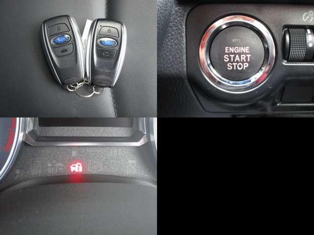 イモビライザーセキュリティ付キーレスアクセスで、盗難防止 プッシュスタートで、スタートボタンでエンジン始動が可能です。