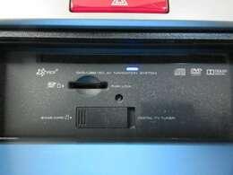 DVD、Bluetooth、フルセグTVなどオーディオ機能も充実!