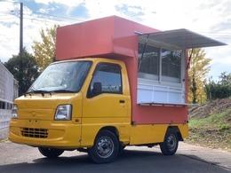 スバル サンバートラック 660 TB 三方開 移動販売車 換気扇 室内灯 シンク 外部電源