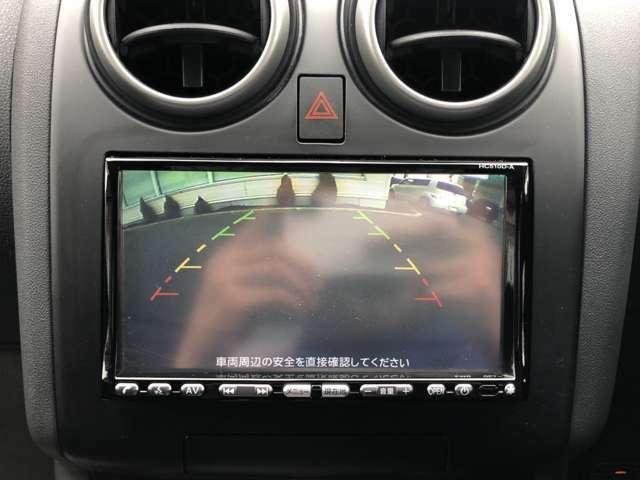 ★死角となる後方もモニターで確認し、安全をサポートするバックカメラを装備しております!