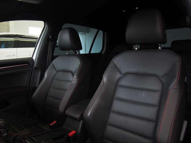 ■硬めに感じられるシートは、ロングドライブでも疲れが少なく、身体をしっかりと支えます。