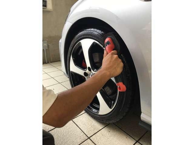 ●ホイール、タイヤにも施工可能です。
