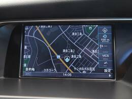 ●アウディ純正ナビ:高級感のある車内を演出させるナビです!