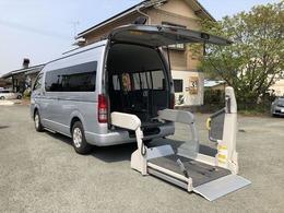 トヨタ ハイエースコミューター ワイド福祉車両Dタイプ車いす4名 パワースライド電動Sステップ電動リフト