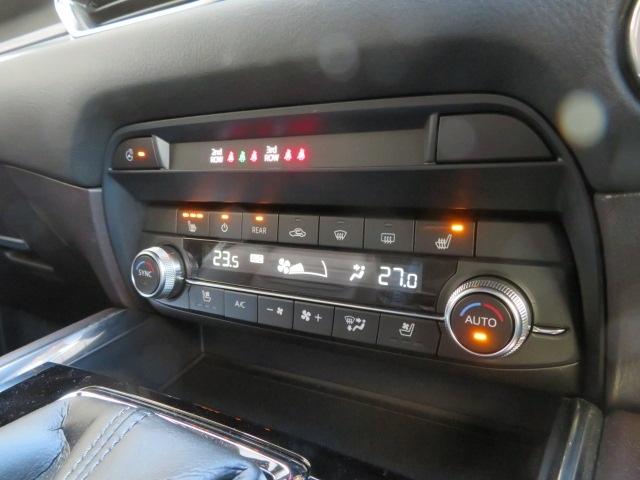 運転席と助手席それぞれに設定温度を調整できるフルオートエアコン(運転席/助手席独立コントロール機能+花粉除去フィルター付)を全車に標準装備しています。シートヒーター・ハンドルヒーター装備!!