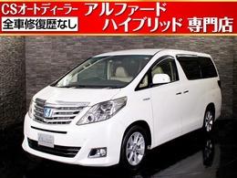トヨタ アルファードハイブリッド 2.4 G 4WD プレミアムサウンド/後席モニター/両自