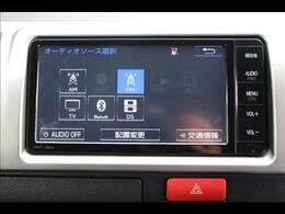 トヨタ純正ナビを装備。フルセグTV、ブルートゥース接続、DVD再生可能、音楽の録音も可能です。