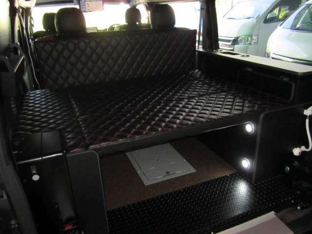 収納式ベッドキット☆車椅子を折り畳んでキャンプ時にベッドキットにトランスフォームします。