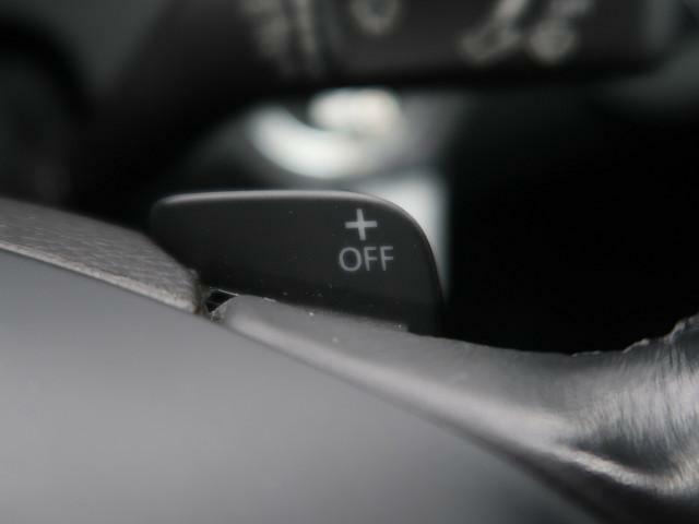●ステアリングパドルシフト● ステアリングホイールから手を離すことなく、指先の操作だけでシフトのアップ/ダウンが可能です。ドライバーの意思を即座に伝え、より車との一体感ある走りを楽しむことができます。