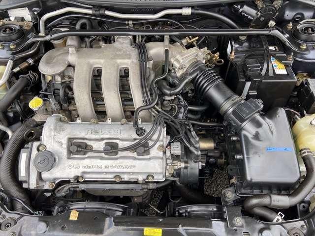 水冷V型6気筒DOHC24バルブ!!出力170ps(125kW)/7000rpm!!エンジン、ミッション等コンディション良好です!!