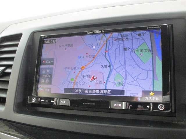 パイオニア製メモリーナビ(AVIC-RZ09) フルセグ DVD再生機能 Bluetooth対応 バックカメラ付き