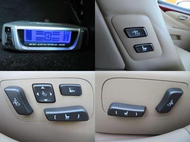 Bプラン画像:前席は電動シート♪シートヒーター&エアシート付♪エアサスコントローラーも付いています♪