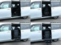 ワイヤレスリモコン付きですので、介助しながらのご乗車が可能です!