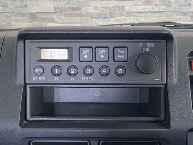 ラジオステレオ搭載で運転も快適です!