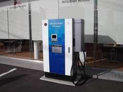 話題の電気自動車の充電スポットも御座います。