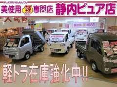 広い屋内展示場に話題の軽自動車を多数ご用意しております