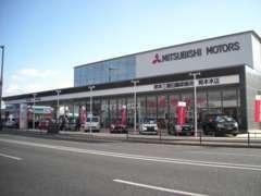 当店運営母体の熊本三菱自動車本店です!熊本地震の影響で建て替えリニューアルオープンしました!