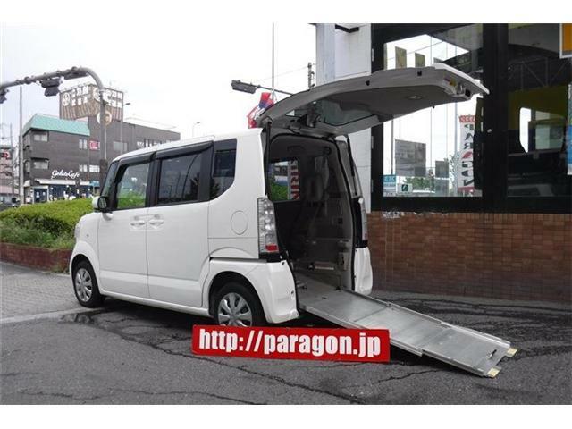 福祉車両ホンダN-BOX+G車いす仕様車スローパー、リアシート付き4人乗り!