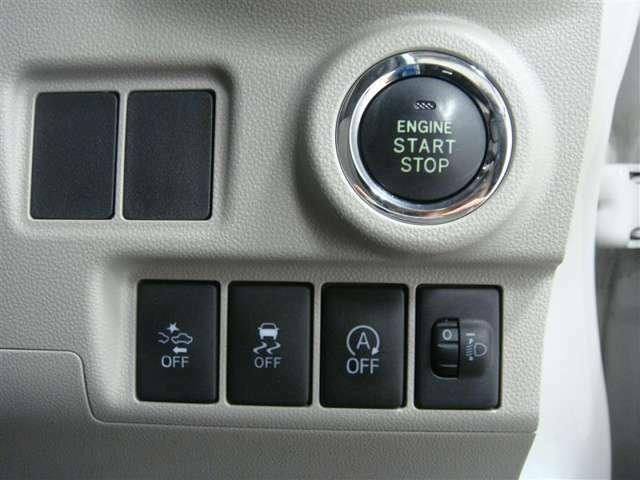 衝突軽減装置、横滑り防止装置、アイドリングストップのスイッチです♪